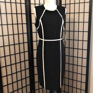 NWT - CALVIN KLEIN Black Sheath Dress